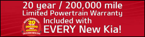 All New Kia Vehicles Get 20yr/200K Mile Limited Power Train Warranty