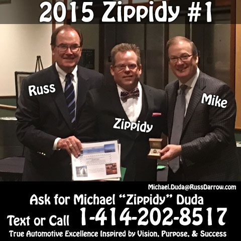 2015 #1 Salesperson Michael Zippidy Duda for The Russ Darrow Group