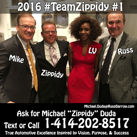 2016 #1 Salesperson Michael Zippidy Duda & Assistant Lavora Wrencher for The Russ Darrow Group