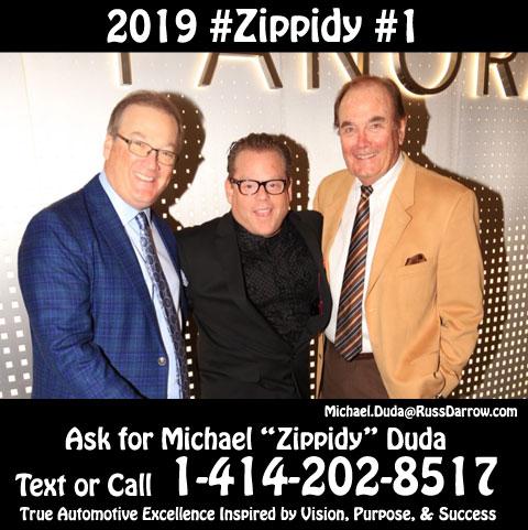2019 #1 Salesperson Michael Zippidy Duda with Mike Darrow & Russ Darrow The Russ Darrow Group