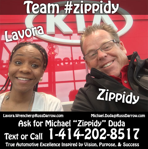 #1 BDC Agent Lavora Wrencher and #1 Salesperson Michael Zippidy Duda for The Russ Darrow Group